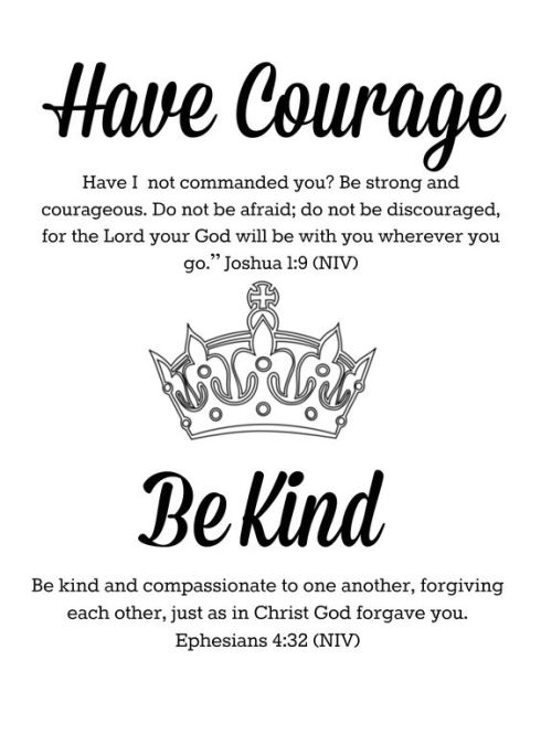 Have courage be kind bible